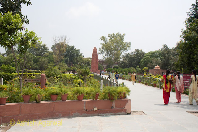 Paths inside the Jallianwala Bagh in Amritsar, where the British fired on unarmed protesters in 1919, killing hundreds