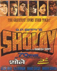 Sholay (1975) - One of the greatest Indian movie hits of all time