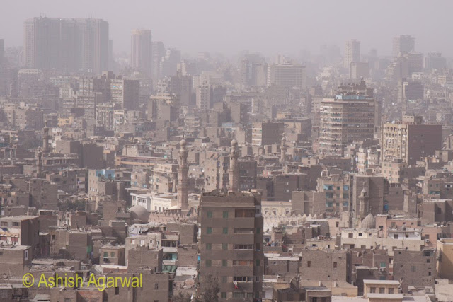 Saladin Citadel in Cairo - view of city from the height