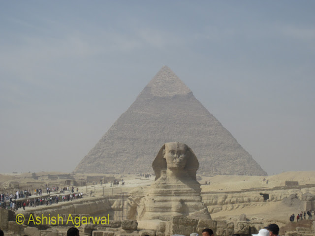 Cairo Sphinx - right next to the pyramids in the Giza area