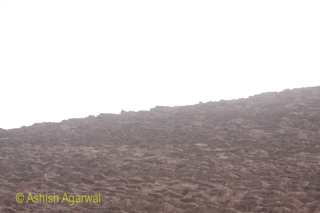 Giza Pyramid - The stone structure of the Great Pyramid of Cheops