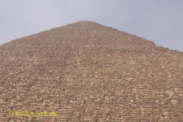 Cairo Pyramids - The sheer structure of the Great Pyramid at Giza