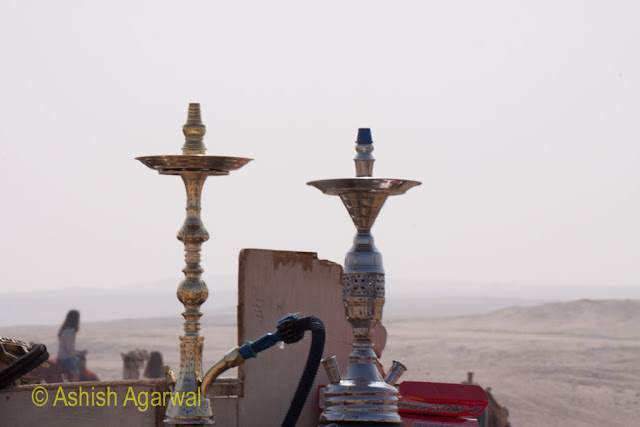 Hukkah being sold at the Panorama Point near the Great Pyramids in Egypt