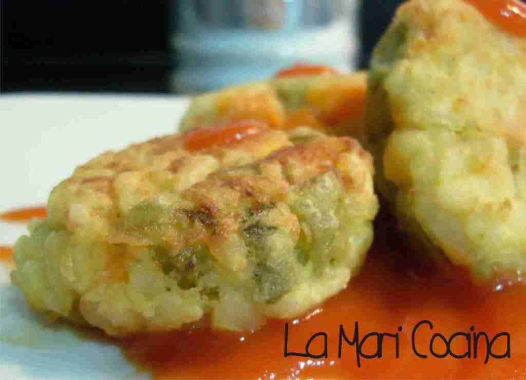 La mari cocina alb ndigas de verduras y gambitas - Albondigas de verdura ...