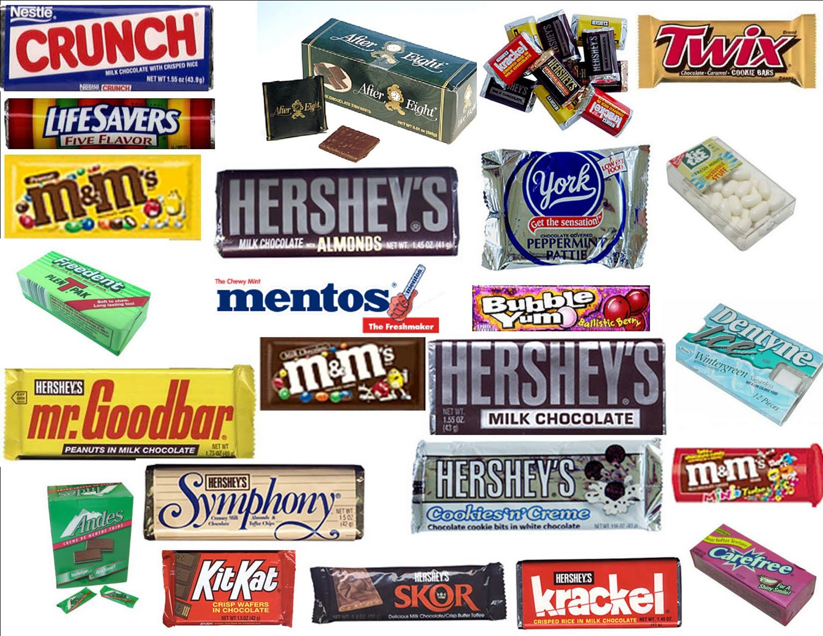 Pics For > Types Of Chocolate Names