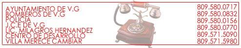 Telefonos Importantes de Villa González
