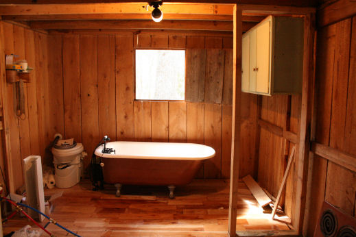 Exceptional The Luck Cabin Now Has A 98% Finished Wall For Dividing The Kitchen And  Bathroom   And Because I Used Locally Milled Pine It Only Cost 40$ To Build  An ...