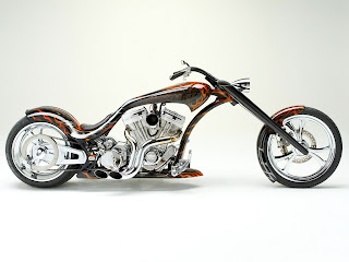Thunder Custom Chopper 2C Awesome Flames Wallpapers