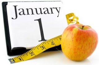 calendar showing Jan 1 with apple and tape measure