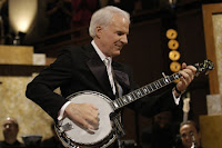 Steve Martin playing his banjo