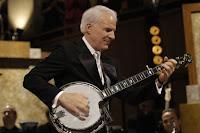Steve Martin playing his banjo