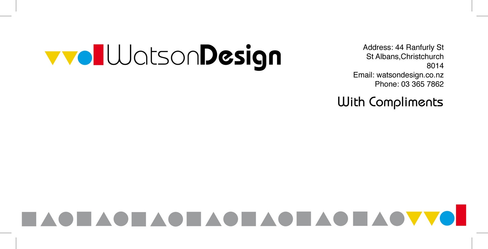 this is the compliments slip for my corporate identity brief