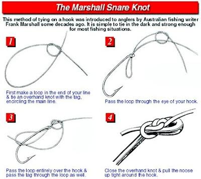Mengikat Kail Dengan Teknik The Marshall Snare Knot