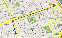 Trajeto Oficial da Marcha para Jesus 2010 no Rio de Janeiro