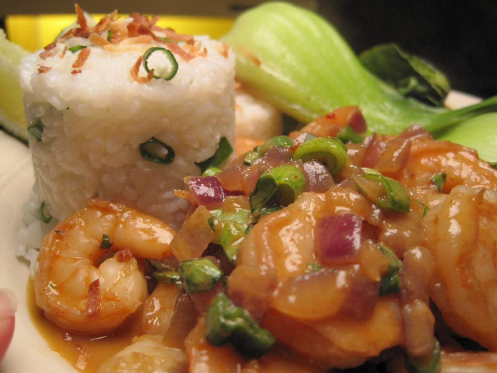 coconut curry shrimp with coconut rice steamy kitchen recipes coconut ...