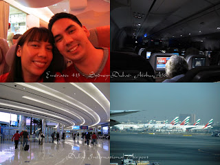 Images from Emirates flight & Dubai Airport