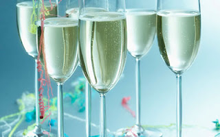 New Year Party Champagne Wallpaper