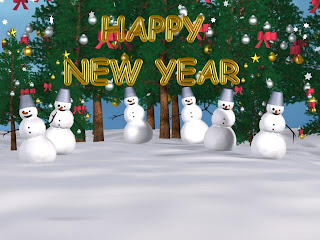 3d wallpaper on new year