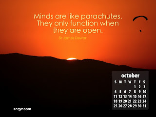 October 2009 Desktop Calendar