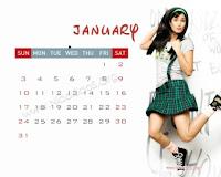 Katrina Kaif 2010 Desktop January Calendar