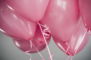 new year pink balloons
