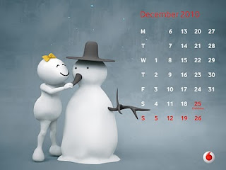 vodafone zoozoo calendar 2010 december