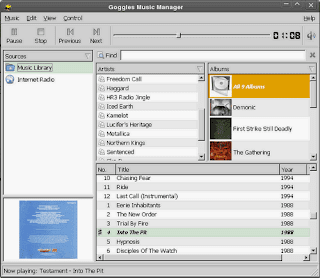 Goggles Music Manager for Linux