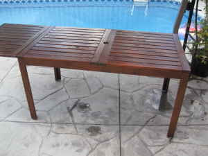 Outdoor Wooden Table Great