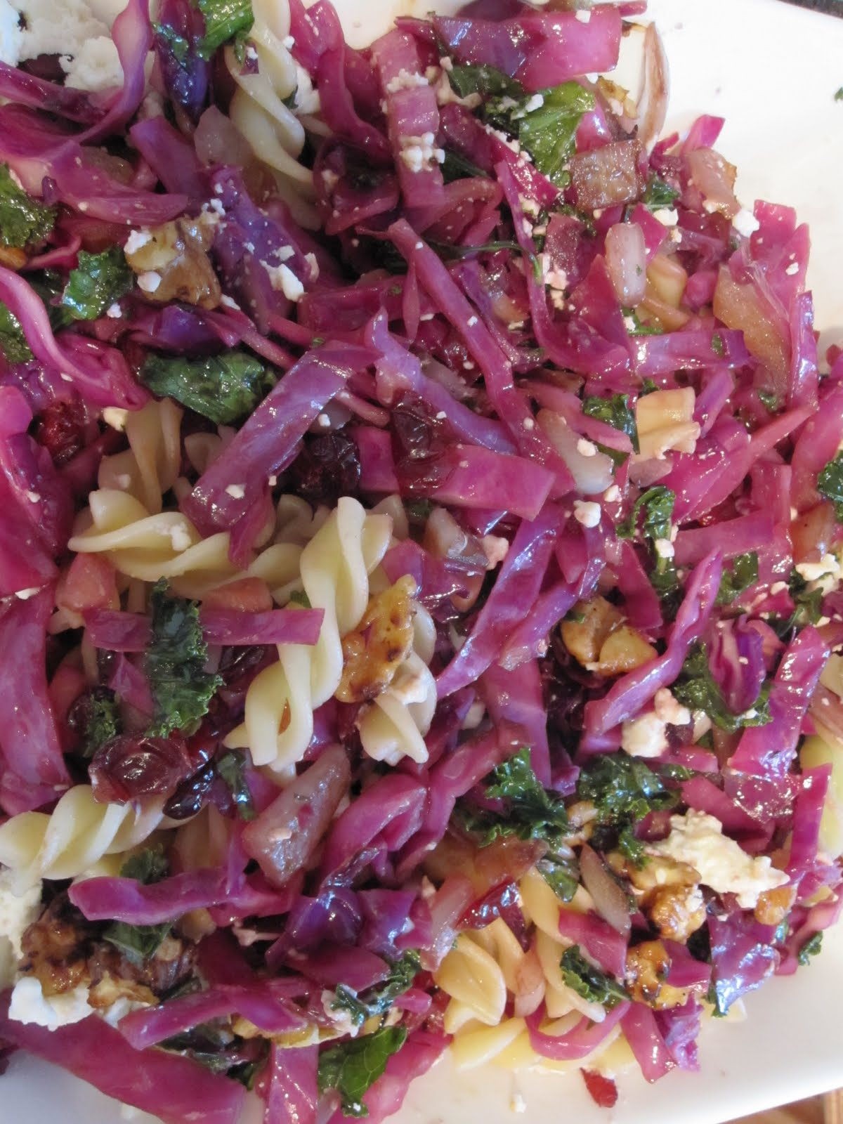 The Ever Evolving Warm Red Cabbage Pasta or Salad
