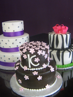 cakes for girls. The girls got to show off