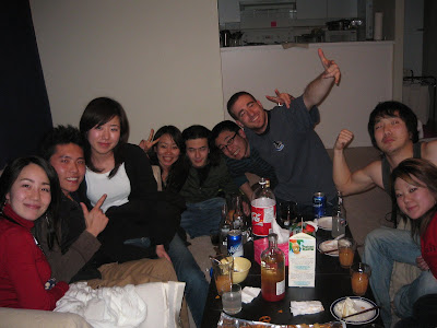 XYL getting hammered with Asian friends