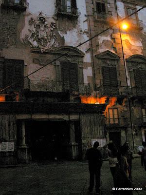 Palermo, palacios, Sicilia, aire decadente