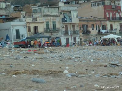 Palermo, Sicilia, playa, suciedad, viajes