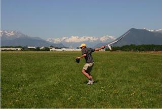 Flying near the Alps