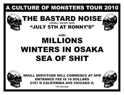 """Bastard Noise """"A Culture of Monsters"""" Tour/Live at Ronny's in Chicago Review"""