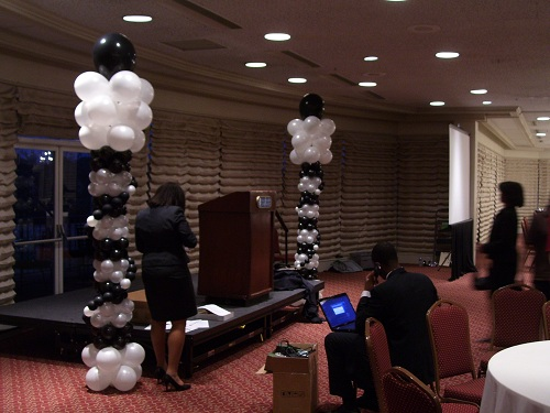 celebrate the day balloon columns for youth about business in