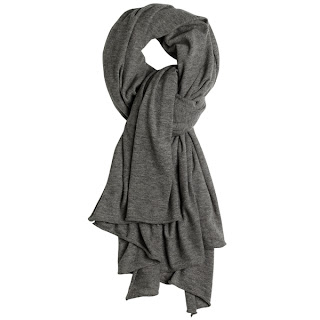 grey cashmere scarf by james pearse