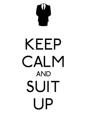 keep calm suit up