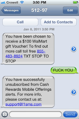 text spam