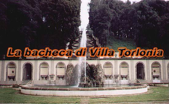 La bacheca di Villa Torlonia