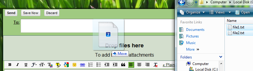 how to add an attachment in gmail windows 8