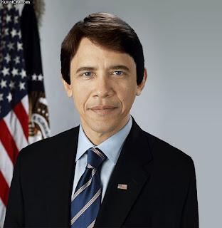 Barack Obama turning white
