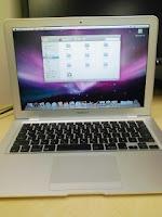 Apple MacBook Airのログイン完了。