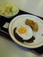 早稲田大学所沢キャンパスの松屋で早稲田ハンバーグを注文の巻。