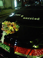 """just married""ハネムーン・カーの巻。"