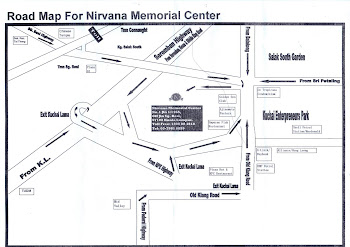 Map to Nirvana Memorial Centre Sg.Besi