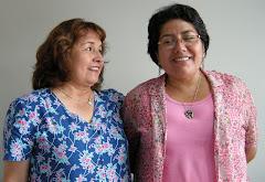 Con Débora Alvarado, una amiga de toda la vida
