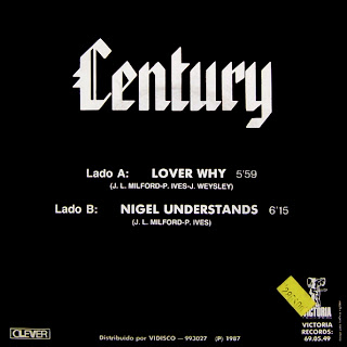 Century  - Lover Why - 7''  (Single 1986)