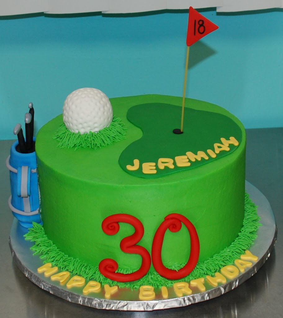 Cake Images Golf : The Bakery Next Door: Golf Birthday Cake