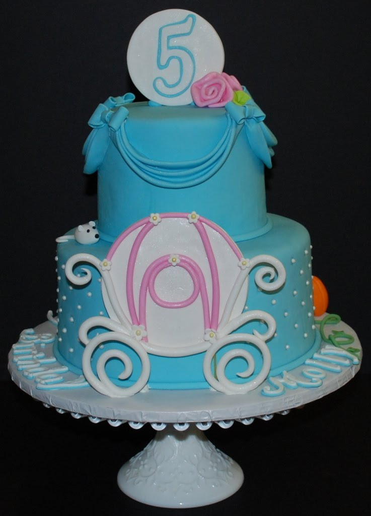 The Bakery Next Door Cinderella Theme Birthday Cake